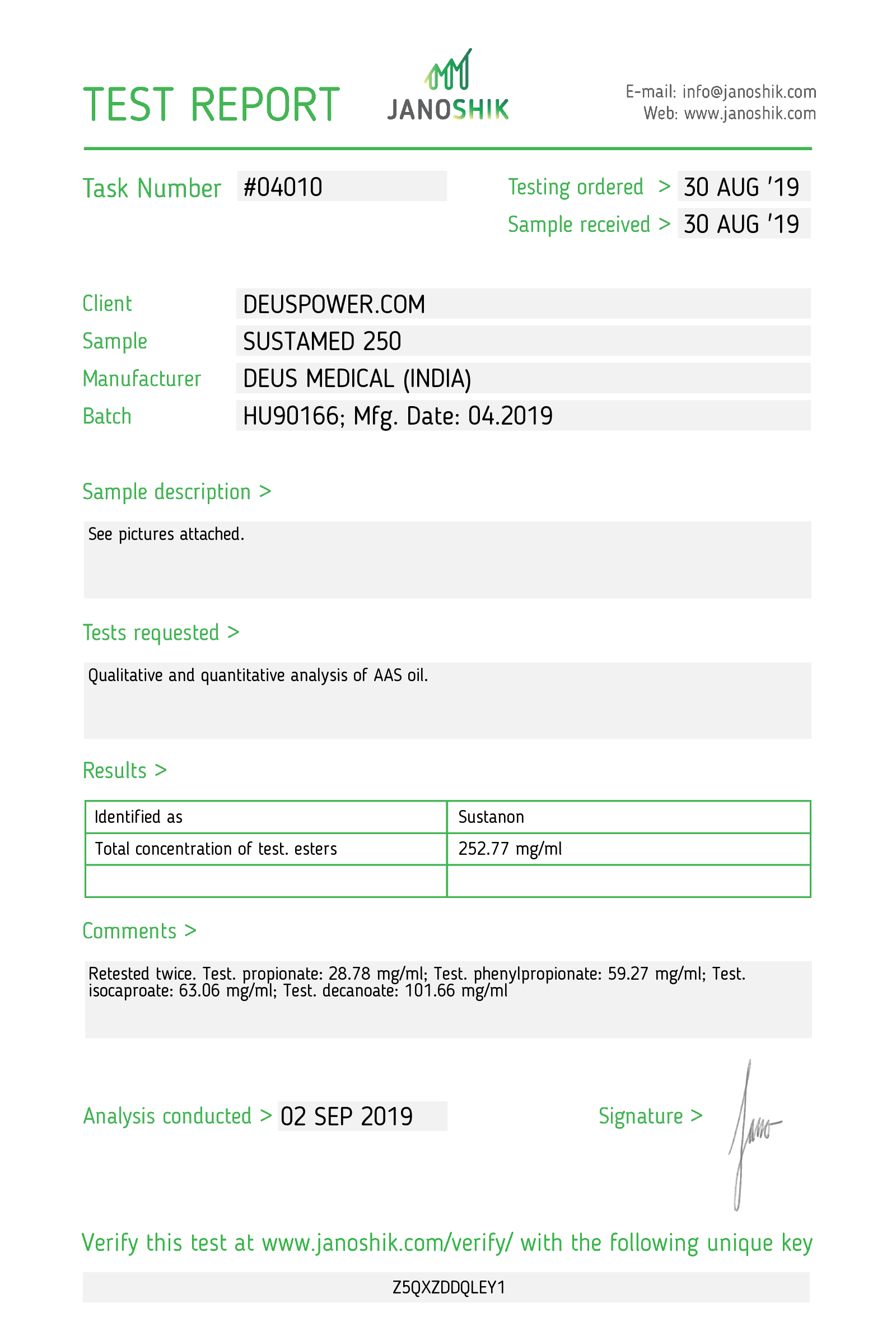 Laboratory Test for Deus Medical SUSTAMED 250_Test Report.png