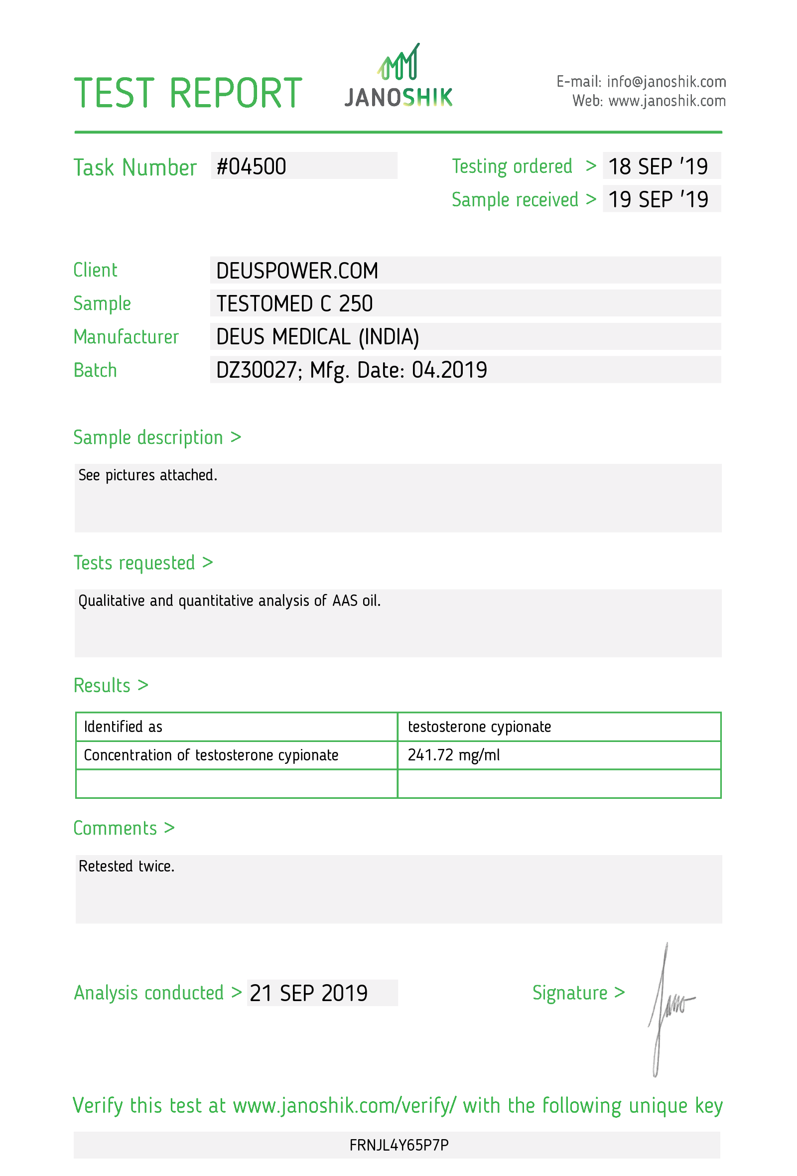 Laboratory Test for Deus Medical TESTOMED C 250_Test Report.png