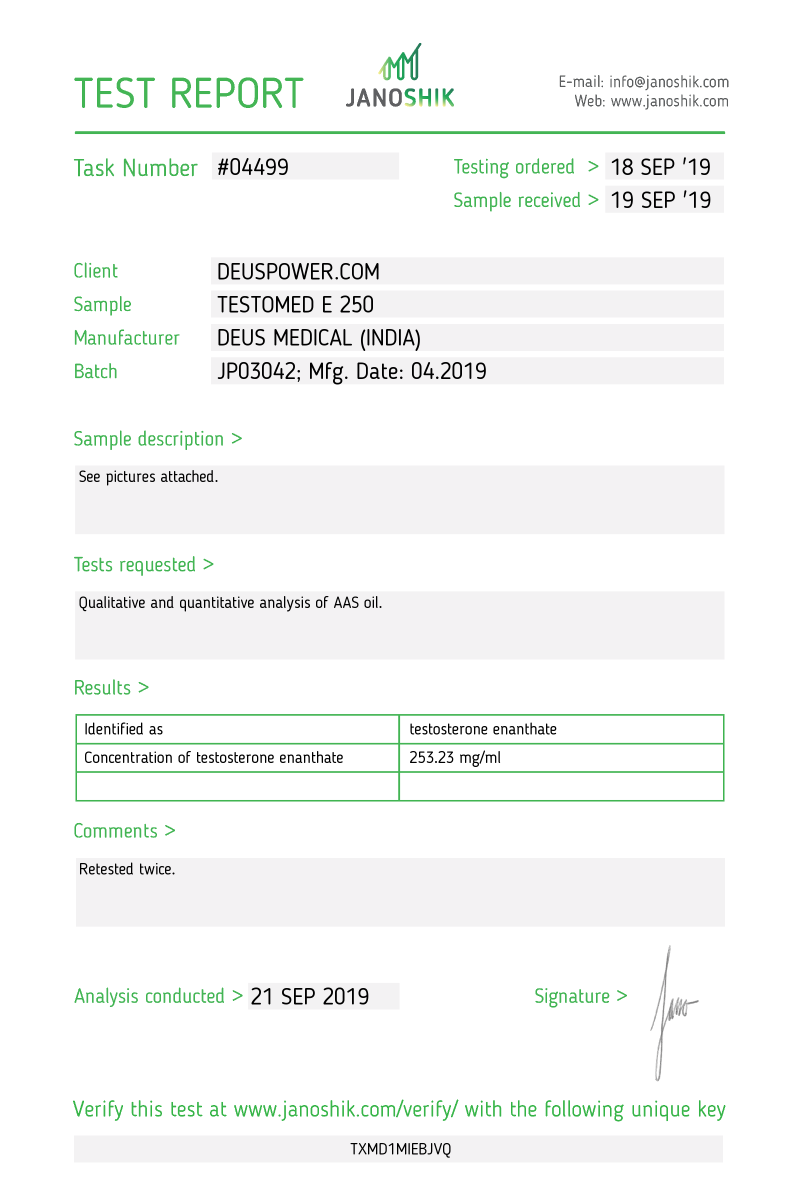 Laboratory Test for Deus Medical TESTOMED E 250_Test Report.png