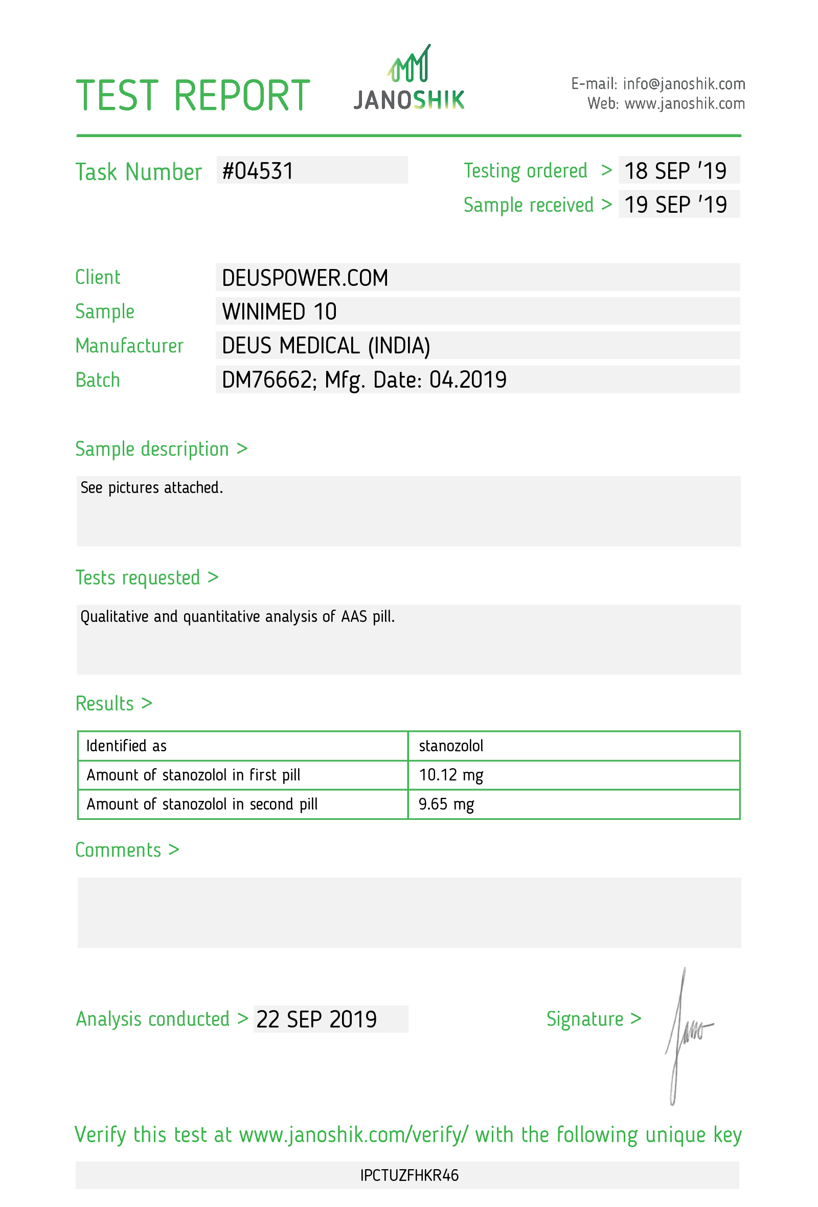 Laboratory Test for Deus Medical WINIMED 10_Test Report.png